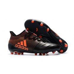 Tanie Buty Piłkarskie adidas X 17.1 FG - Core Czarny Solar Czerwony Solar Pomaranczowy