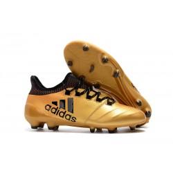 Korki Piłkarskie Meskie Buty adidas X 17.1 FG Zloty Metalik Czarny Czerwony