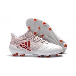Korki Piłkarskie Meskie Buty adidas X 17.1 FG Bialy Koralowy Czarny