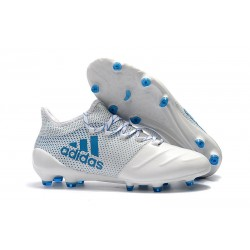 Nowe Buty - Profesjonalne adidas X 17.1 FG - Bialy Niebieski Energy Czysty Szary