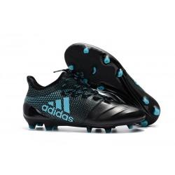 Meskie Buty piłkarskie adidas X 17.1 FG - Czarno Niebieski