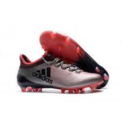 Tanie Buty Piłkarskie adidas X 17.1 FG - Szary Różowy Czarny