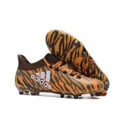 Tanie Buty Piłkarskie adidas X 17.1 FG - Jasny Pomarancz Oliwkowy