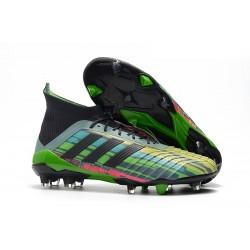 Buty piłkarskie korki Predator 18.1 FG Adidas - Mieszaj kolory zielony czarny żółty