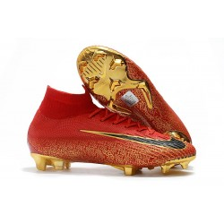 Nowe Nike Mercurial Superfly VI 360 Elite FG Korki Pilkarskie - Czarny Złoty Czerwony