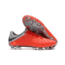Nowe Buty piłkarskie Nike HyperVenom Phantom 3 FG Czerwony Szary