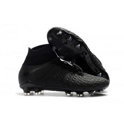 Tanie Buty piłkarskie Nike Hypervenom Phantom 3 DF FG Czarne Srebro