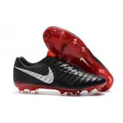 Tanie Buty piłkarskie Nike Tiempo Legend VII FG Czarny Czerwony Srebrny