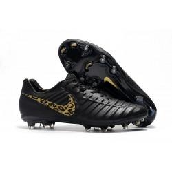 Profesjonalne Buty piłkarskie Nike Tiempo Legend 7 FG Czarny Złoty Lampart