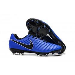 Buty piłkarskie Sklep Nike Tiempo Legend VII FG Niebiesko Czarny