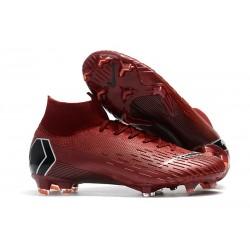 Tanie buty piłkarskie Nike Mercurial Superfly VI 360 Elite FG Wino Czerwone