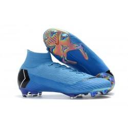 Nowe Nike Mercurial Superfly VI 360 Elite FG Korki Pilkarskie - Niebieskie Czarne