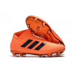 Profesjonalne - Korki Piłkarskie adidas Nemeziz 18+ FG - Czarny Pomarańczowy