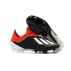 Meskie Buty piłkarskie Adidas X 18.1 FG Czarny Biały Czerwony