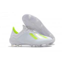 Meskie Buty piłkarskie Adidas X 18.1 FG Biało Żółty