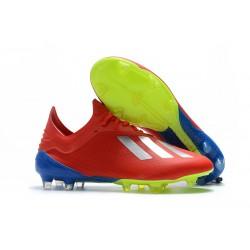 Meskie Buty piłkarskie Adidas X 18.1 FG Czerwony Srebro