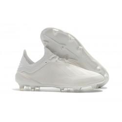 Meskie Buty piłkarskie Adidas X 18.1 FG Wszystko Białe