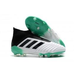 Buty piłkarskie Meskie - Adidas Predator 18+ FG Biało Zielony