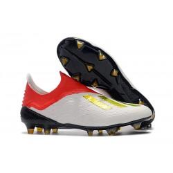 Profesjonalne Buty piłkarskie Adidas X 18+ FG Czerwone Białe Złoto