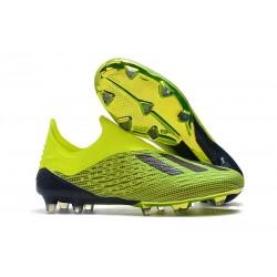 Profesjonalne Buty piłkarskie Adidas X 18+ FG Żółty Czarny