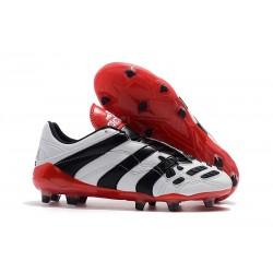 Korki Piłkarskie Adidas Predator Accelerator Electricity FG Biały Czarny Czerwony
