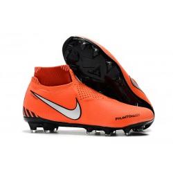 Meskie Buty piłkarskie Nike Phantom VSN Elite DF FG - Pomarańczowy Czarny Biały