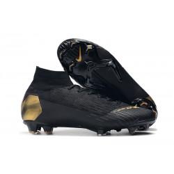 Tanie buty piłkarskie Nike Mercurial Superfly VI 360 Elite FG Czarne Złoto