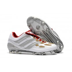 Nowe Buty piłkarskie Adidas Predator Precision FG Szary Złoto Czerwony