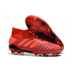Buty piłkarskie adidas Predator 19.1 FG - Meskie - Aktywny Czerwony Solar Czerwony Czarny