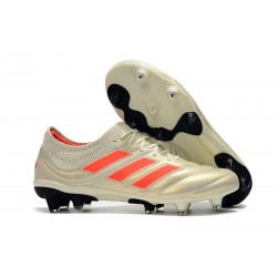 Profesjonalne Buty piłkarskie Adidas Copa 19.1 FG Biały Solar Czerwony Czarny