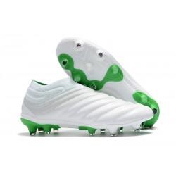 Meskie - Buty piłkarskie Adidas Copa 19+ FG Biały Zielony