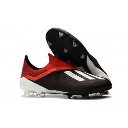 Korki Piłkarskie Tanie adidas X 18+ FG Czarny Czerwony Biały
