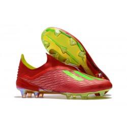 Meskie Buty piłkarskie adidas X 18+ FG Czerwony Zielony
