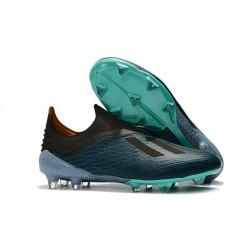 Profesjonalne Buty piłkarskie Adidas X 18+ FG Niebiesko Czarny