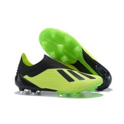 Korki Piłkarskie Nowe Adidas X 18+ FG Zielony Czarny