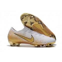 Nike Mercurial Vapor 12 Elite FG Korki Pilkarskie Biały Złoto