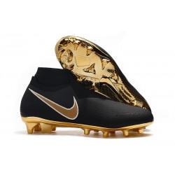 Meskie Buty piłkarskie Nike Phantom VSN Elite DF FG - Czarny Złoto