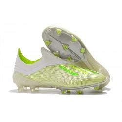 Korki Piłkarskie Nowe Adidas X 18+ FG Biały Zielony