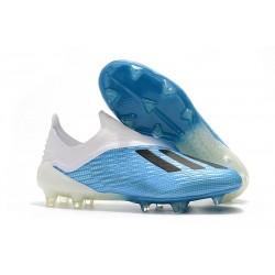 Profesjonalne Buty piłkarskie Adidas X 18+ FG Niebieski Biały Czarny