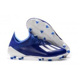 Buty Piłkarskie adidas X 19.1 FG Niebieski Biały