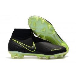 Meskie Buty piłkarskie Nike Phantom VSN Elite DF FG - Czarny Fluorescencyjny Żółty