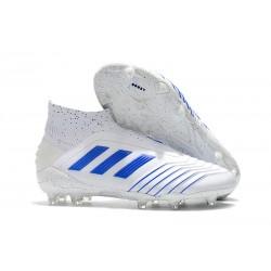 Adidas Predator 19+ FG Buty Piłkarskie - Biały Niebieski