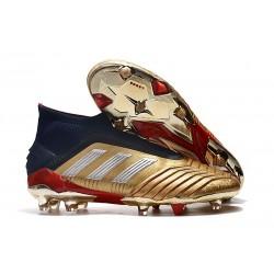 Adidas Predator 19+ FG Buty Piłkarskie - Złoty Srebro Czerwony
