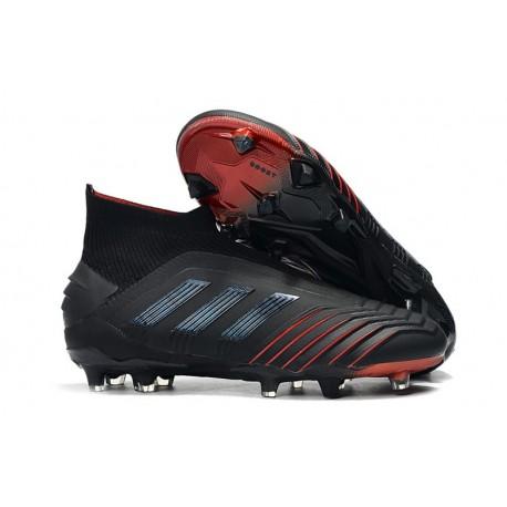 Adidas Predator 19+ FG Buty Piłkarskie - Czarny Czerwony