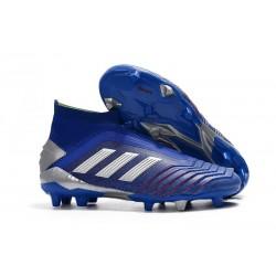 Adidas Predator 19+ FG Buty Piłkarskie - Niebieski Srebro