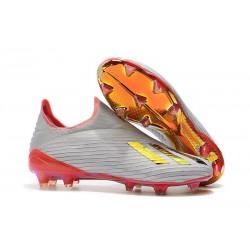 adidas Predator 19+ FG Korki Pilkarskie - Redirect Pack Srebro Czerwony