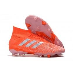 Buty piłkarskie adidas Predator 19.1 FG - Meskie - Pomarańczowy Biały