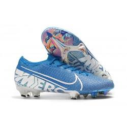 Buty piłkarskie korki Nike Mercurial Vapor 13 Elite FG Niebieski Biały