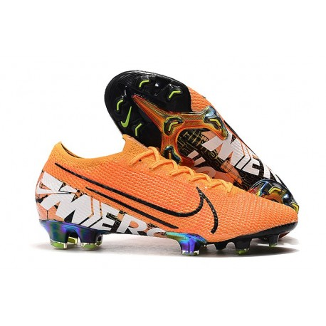 Buty piłkarskie korki Nike Mercurial Vapor 13 Elite FG Pomarańczowy Biały