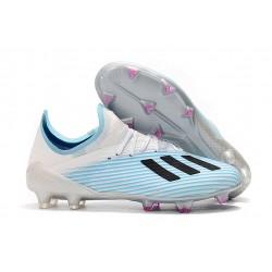 Buty Piłkarskie adidas X 19.1 FG Biały Niebieski Czarny